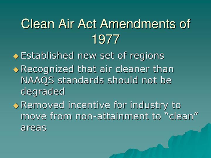 Clean Air Act Amendments of 1977