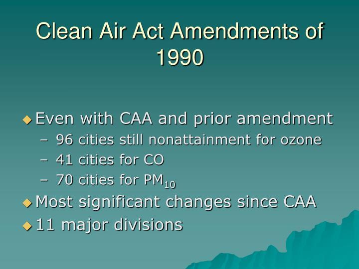 Clean Air Act Amendments of 1990