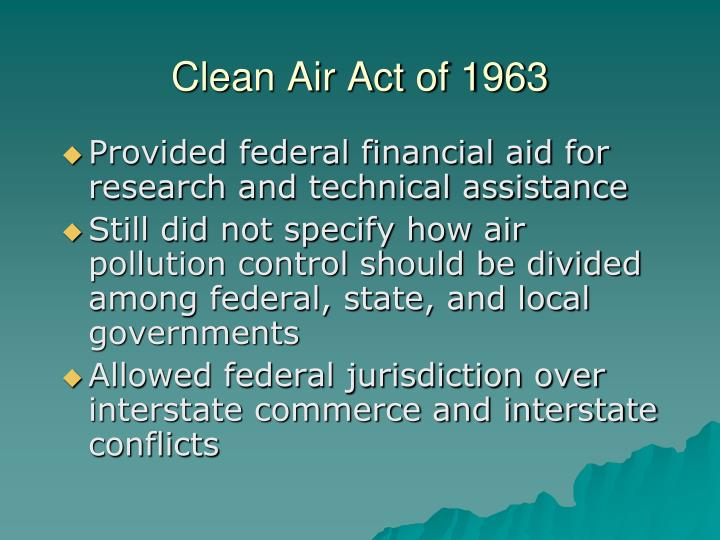 Clean Air Act of 1963