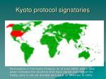 kyoto protocol signatories
