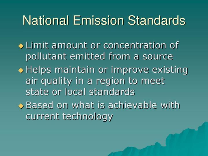 National Emission Standards