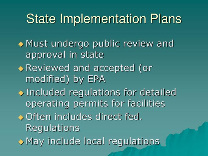 State Implementation Plans