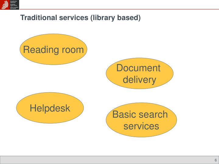 Traditional services (library based)