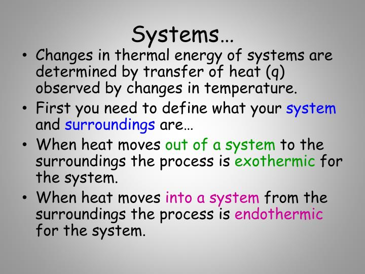 Systems…