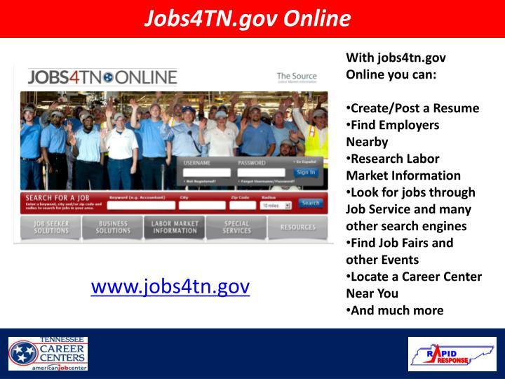 Jobs4TN.gov Online