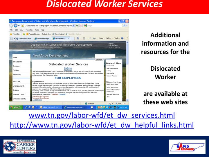 Dislocated Worker Services