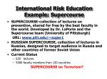 international risk education example supercourse
