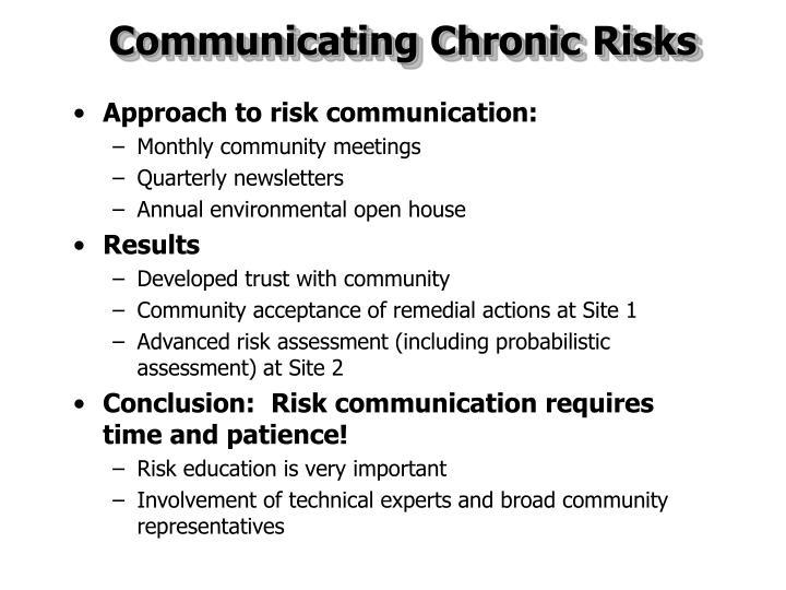Communicating Chronic Risks