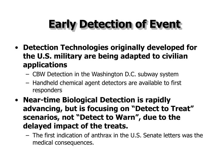 Early Detection of Event
