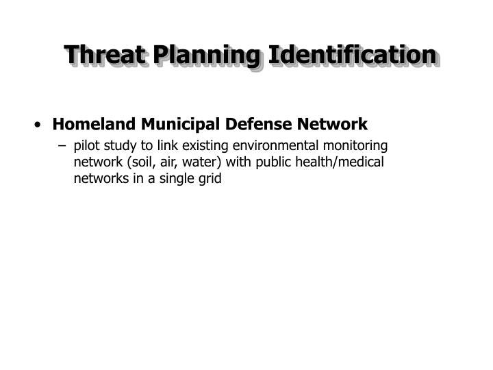 Threat Planning Identification