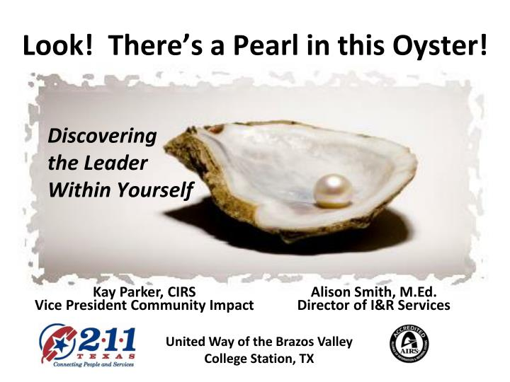 Look!  There's a Pearl in this Oyster!