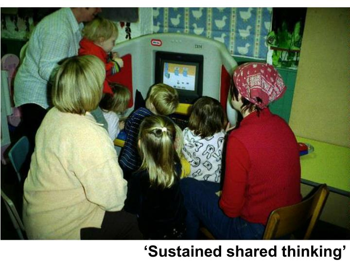 'Sustained shared thinking'