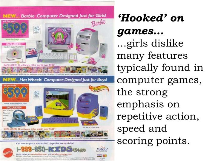 'Hooked' on games…