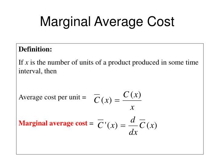 Marginal Average Cost