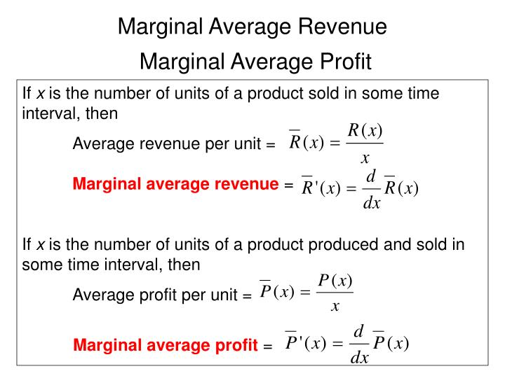 Marginal Average Revenue