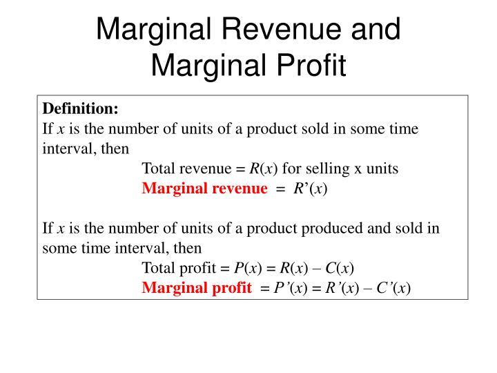 Marginal Revenue and