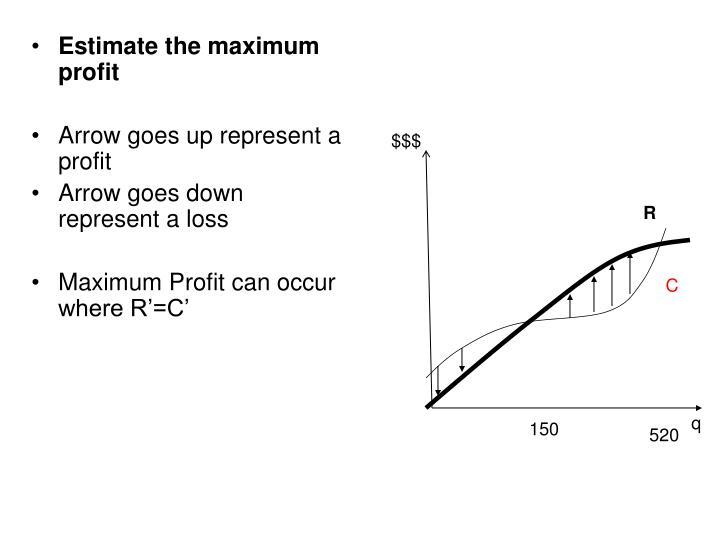 Estimate the maximum profit