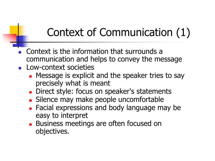 Context of Communication (1)