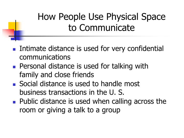 How People Use Physical Space