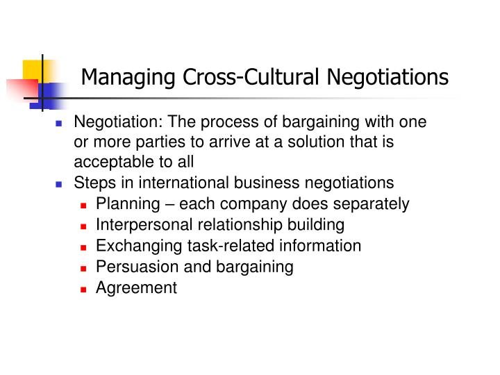 cross cultural business negotiations Moved permanently the document has moved here.