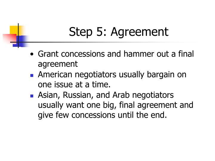 Step 5: Agreement
