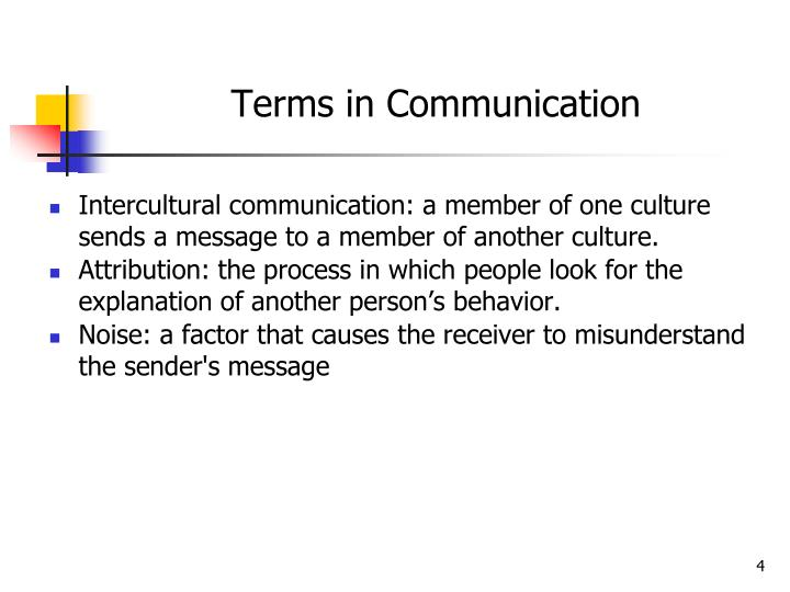 Terms in Communication