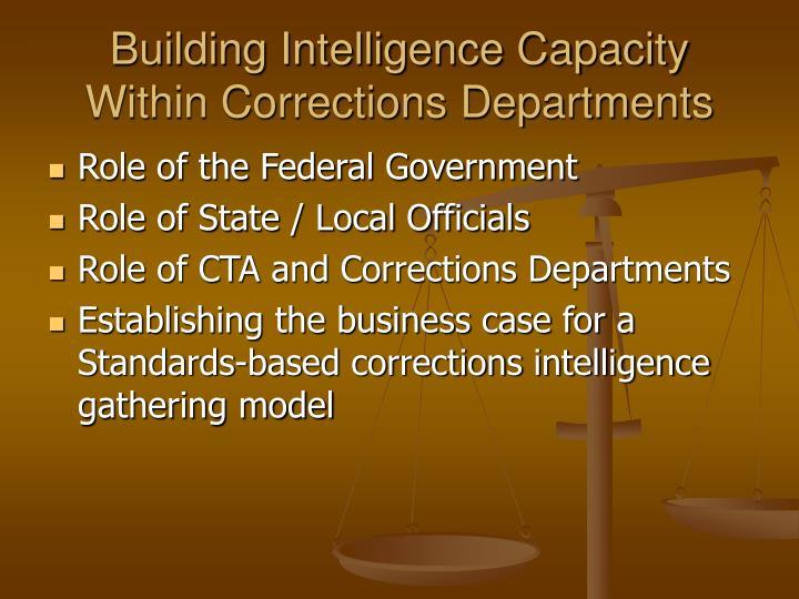 Building Intelligence Capacity