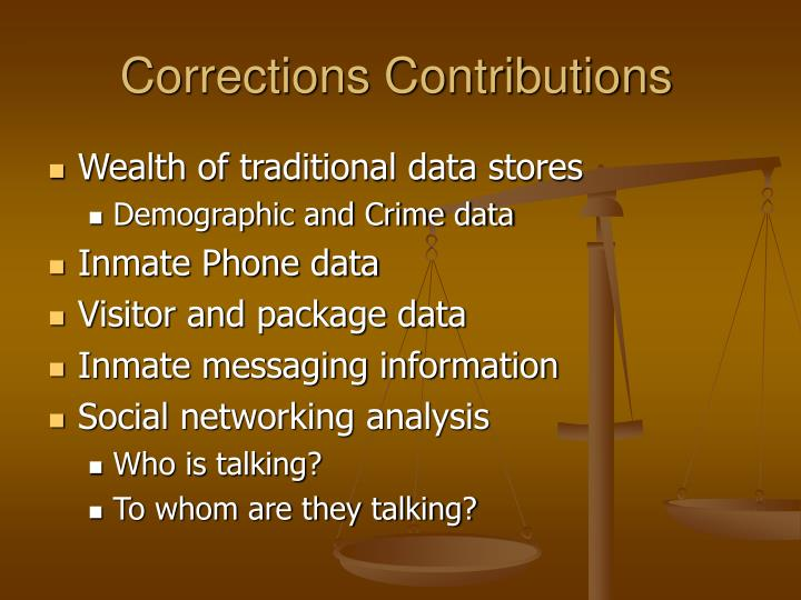 Corrections Contributions