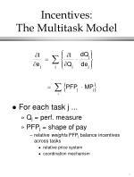 incentives the multitask model