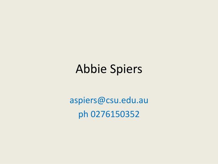 Abbie Spiers
