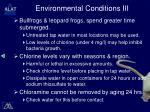 environmental conditions iii