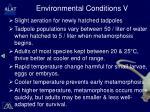environmental conditions v
