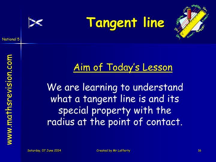 Tangent line
