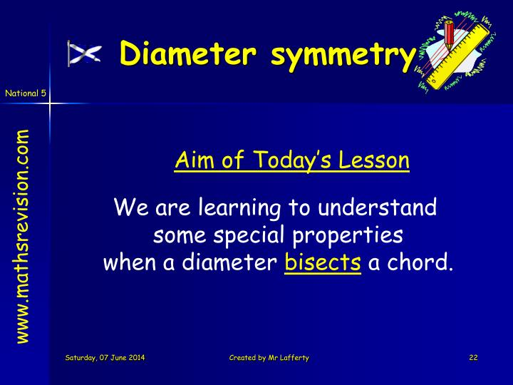Diameter symmetry