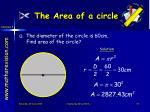 the area of a circle5