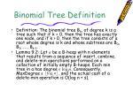 binomial tree definition