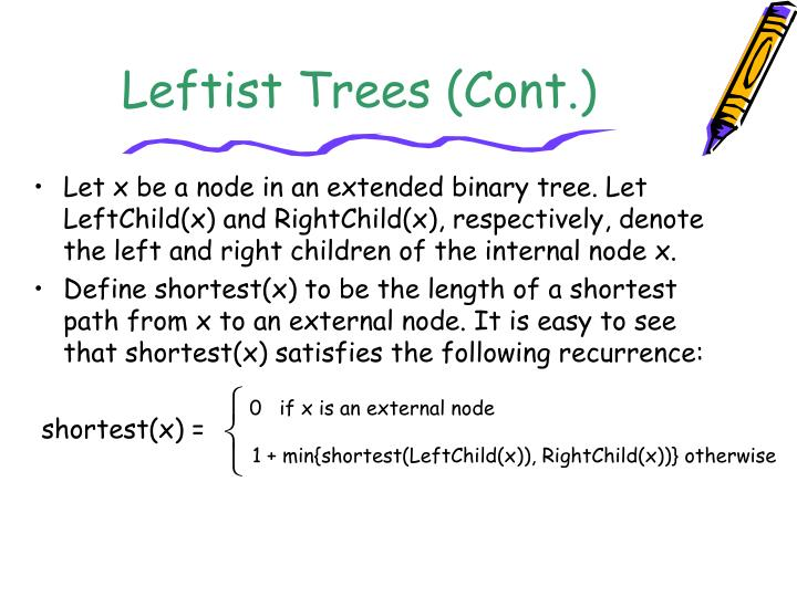 Leftist Trees (Cont.)
