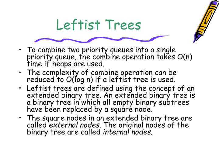 Leftist Trees