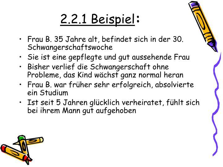 2.2.1 Beispiel