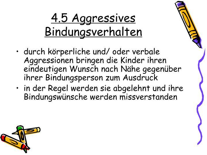 4.5 Aggressives Bindungsverhalten