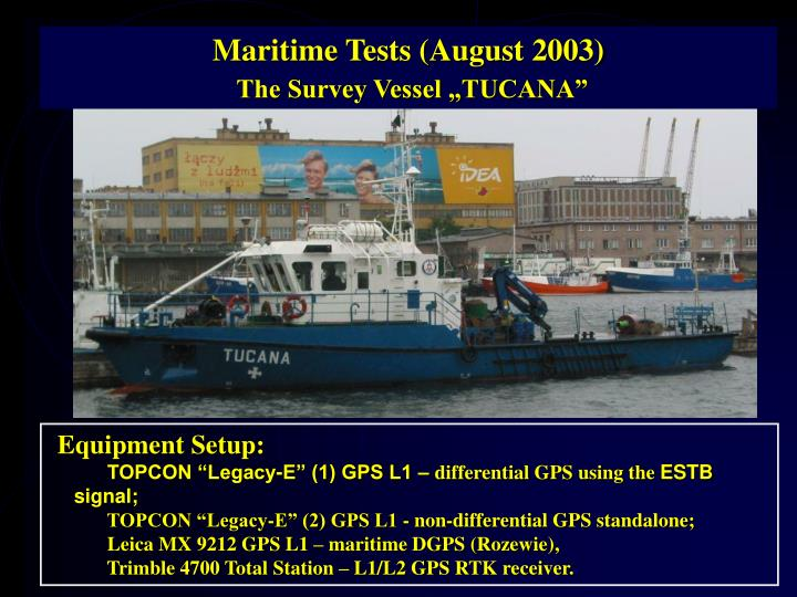 Maritime Tests (August 2003)
