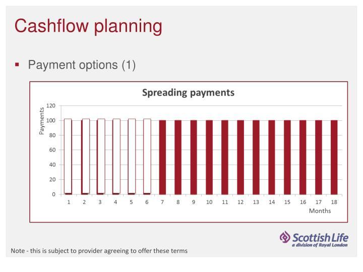 Cashflow planning