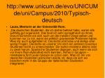 http www unicum de evo unicumde uni campus 2010 typisch deutsch
