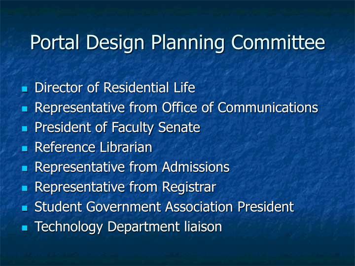Portal Design Planning Committee