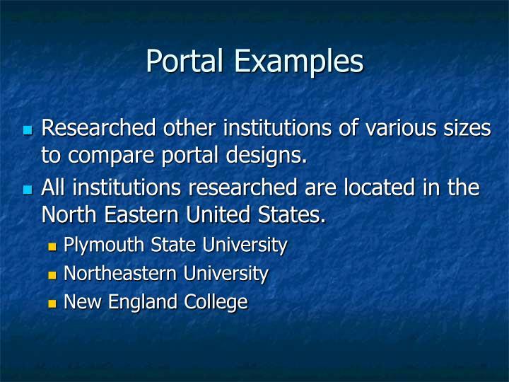 Portal Examples
