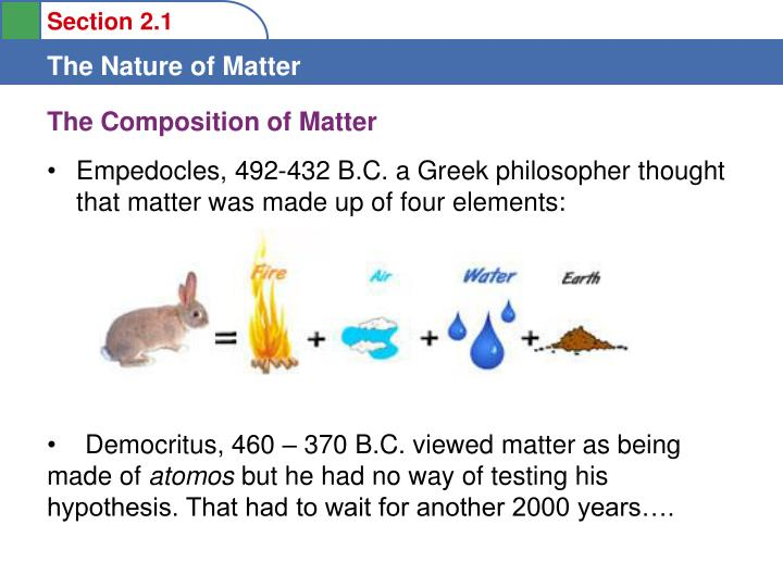 The composition of matter