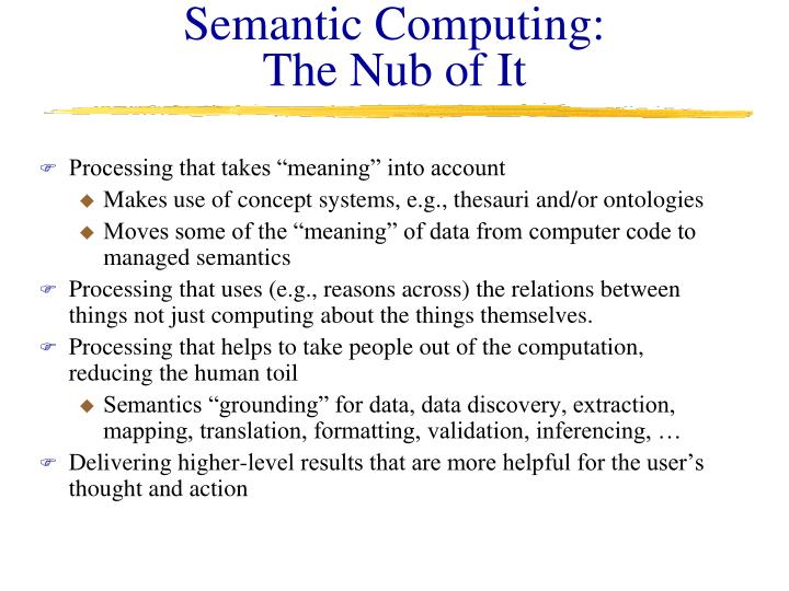 Semantic Computing: