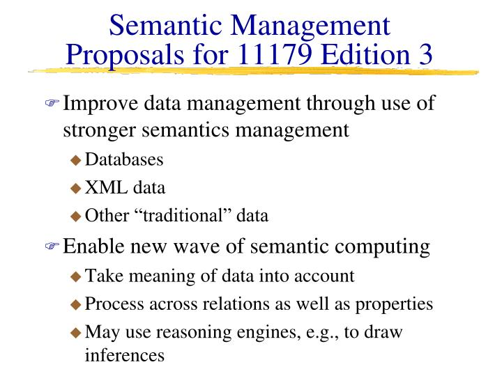 Semantic Management