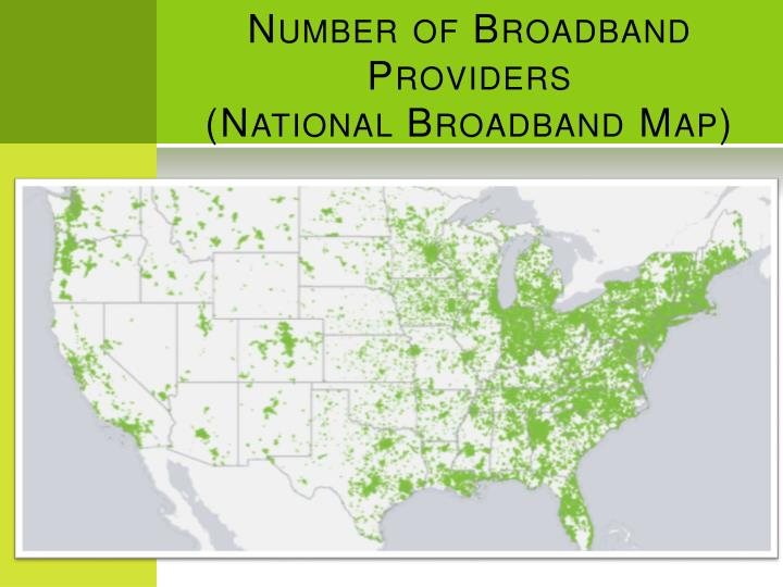 Number of Broadband Providers