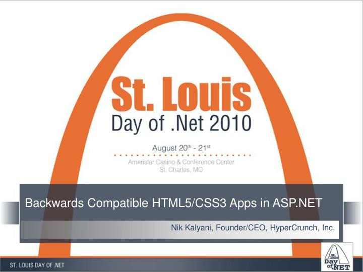 backwards compatible html5 css3 apps in asp net